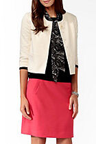 bnew w tags FOREVER 21 Essential Cropped Jacket cream color small