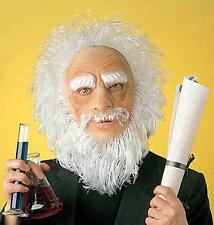 Old Man Mask With White Hair Santa Clause Father Christmas Fancy Dress