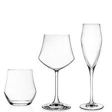 Set 18 Pezzi (6 FLUTE 6 bicchieri ACQUA 6 CALICI VINO) Vetro Cristallo EGO RCR