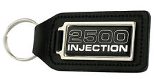 Triumph 2500 Injection Rectangle Black Leather Keyring