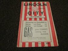 More details for lincoln city ( champions season )  v  accrington stanley  1947/8 ~ dec 25th