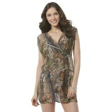 Realtree Swim Wear Cover Up Green Camouflage Trees V-Neck NEW Medium M