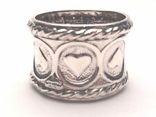 Galmer Silver Company Sterling Silver single Hearts Napkin Ring
