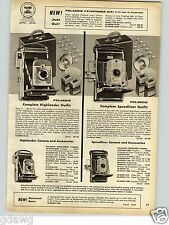 1958 PAPER AD Polariod Camera Highlander Speedliner Argus 33MM Colormatic C-44