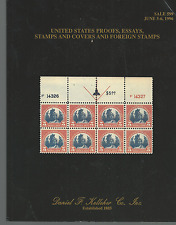 DANIEL F. KELLEHER 1996 STAMP AUCTION CATALOGUE US PROOFS ESSAYS COVERS & STAMPS