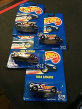 Four (4) Hot Wheels 1993 Camaro New On Card Collector #242