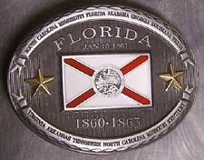 Pewter Belt Buckle Florida State Flag NEW CSA