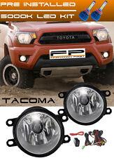 LED + 2012-2015 Toyota Tacoma Clear Lens Fog Light Driving Lamp Complete Kit