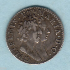 New listing Great Britain. 1689 William & Mary - Threepence. Hyphen stops on rev. gVf/Vf
