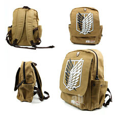Attack on titan Shingeki no Kyojin Anime Cosplay Backpack Schoolbag Shoulder Bag