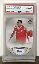2013 GIANNIS ANTETOKOUNMPO BUCKS SP AUTHENTIC ROOKIE #36 PSA 10 GEM MINT RC