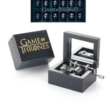 ♫ Game Of Thrones - Winter Is Coming ♫ Black Wood Engrave Hand Crank Music Box