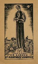 Vintage Medical  Ex libris Bookplate made for Dr. Szirmay Gyorgy, Hungary