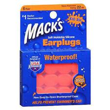 Mack's Soft Moldable Silicone Earplugs Kid Size 6 Pairs