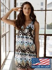 Polyester Clubwear Geometric Regular Size Dresses for Women
