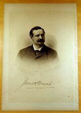 COL.JONAS H. FRENCH Gloucester, Massachusetts MA Steel Engraving Portrait 1888