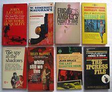 8 Vintage Paperback Books (Espionage/Spy Novels) McCutchan, Bruce, MacInnes, etc