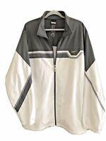 Nike Men's Elite Dri-Fit Full Zip Lined Jacket White Size XXL