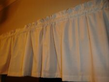 "Primitive Country Muslin Solid Bedroom Kitchen Window Valance Decor 88"" Wide"
