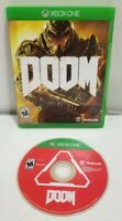 Doom Video Game Microsoft Xbox One 2016 First Person Shooter TESTED COMPLETE