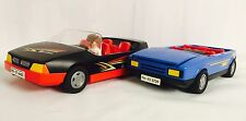 3 Piece Playmobil Lot Vehicles 🚗 Figures Convertible Race 🏁 Car