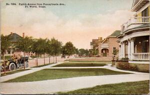 Ft Worth TX Eighth Avenue c1911 RPO Postcard F28
