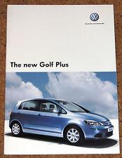 2005 VW GOLF PLUS UK Launch Sales Brochure - Mint Condition