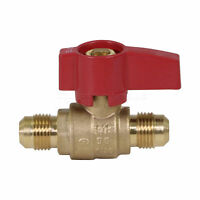 Midline Valve Premium Brass Gas Ball Valve, with Flare Connections