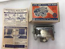 Mansfield Little Gem Automatic Film Splicer w Box & Instructions 8 16 mm Movie