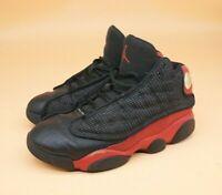 Nike Air Jordan Retro 13 XIII Black True Red Bred 414575-004 Youth Size 1Y