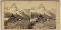 A. Braun Grand Monte Gervin Foto Stereo L53S1n31 Vintage Albumina c1862
