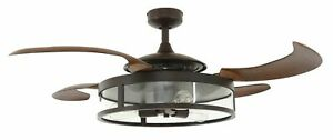Ceiling fan Fanaway Classic Oil Rubbed Bronze with retractable blades 122 cm / 4