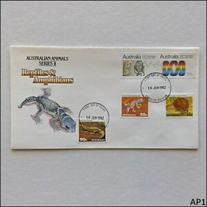 Australian Animals Reptiles & Amphibians 16 Jun 1982 Aust Post FDC Issue (AP1)