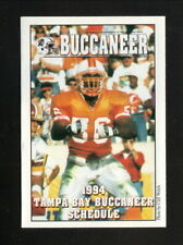 Tampa Bay Buccaneers--Hardy Nickerson--1994 Pocket Schedule--HealthSouth