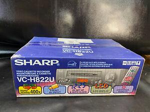 NEW Sharp VC-H822U 4 Head Hi Fi Stereo VCR VHS Player SEALED