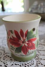 Yankee Candle Tarts Wax Melt Warmer / Burner Christmas Ceramic Decor POINSETTIAS