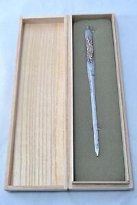 Kogai Japanese samurai sword katana koshirae accessory a peony design antique