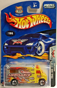 Hot Wheels 2003 Final Run Ambulancia (Amarillo) Tarjeta #196