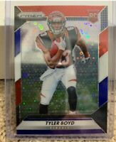 2016 Tyler Boyd RC Panini Prizm Red White Blue Disco. Hot! Awesome Card!!!!!