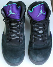 Nike Men's Air Jordan Retro 5 Black Grape size 14