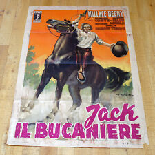 JACK IL BUCANIERE manifesto poster Wallace Beery Richard Conte Cavallo Rodeo G10
