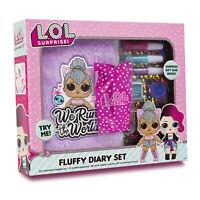 LOL Surprise Girls Super Soft Plush Fluffy Diary Set Gift Bag Kids Fun
