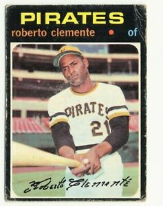 1971 TOPPS PITTSBURGH PIRATES ROBERTO CLEMENTE #630 LOW GRADE HALL OF FAME