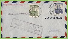 Belgium Congo 1941 First Flight Cover, Leopoldville to Lagos