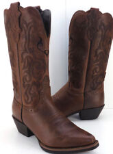 Justin Western McKayla Pull On Brown Cowgirl Boots Women's US Shoe Size 6M NEW