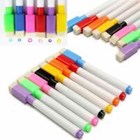 5/10Pc Creative Magnet Pens Magnetic Dry Wipe White Board Markers Built In Erase