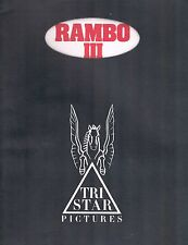 Rambo III Production Notes Paperback Tri Star Pictures 1988