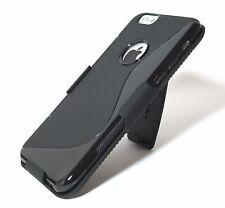 "(New Other) Black Slim TPU Case + Slim Belt Clip Holster for iPhone 6 & 6s 4.7"""