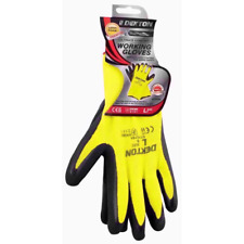 x12 Dekton Ultra Grip WORKING LATEX Protective Safety Gloves 9/L YEL/BLK DT70764