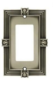 64463 Brushed Satin Pewter Pineapple Single GFCI Outlet Wall Cover